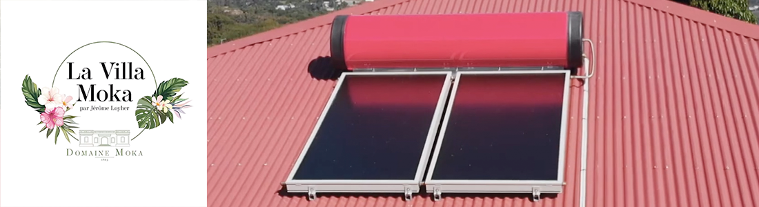 Installation d'un chauffe-eau solaire à La Villa MOKA