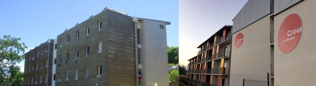 Les résidences CROUS de St Pierre et Le Tampon sont alimentées en eau chaude solaire